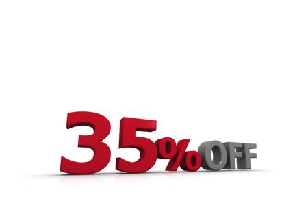 thirty five: thirty five Percent Off  Stock Photo