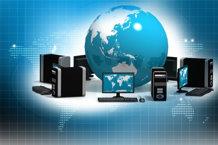 computer networks: Global Computer Network in abstract background