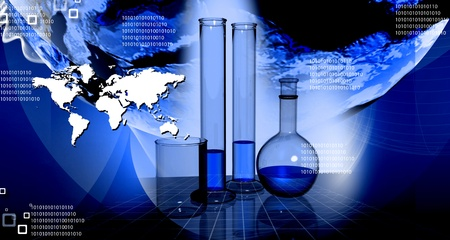 science chemistry: World and science in abstract background