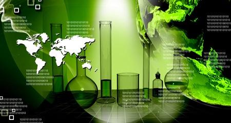 抽象的な背景で世界科学