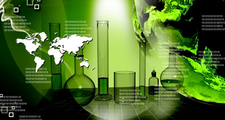 World and science in abstract background