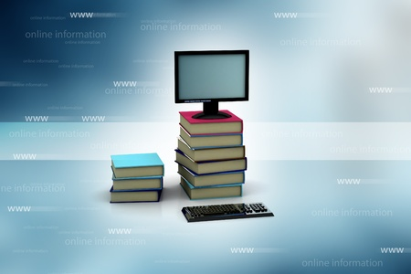 e survey: internet library in abstract background