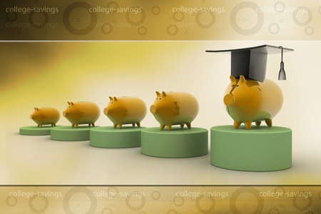 College Savings in abstract background photo