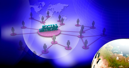 network marketing: Social Network in abstract background