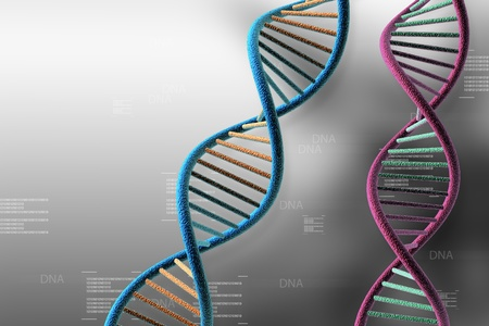 DNA in abstract background Stock Photo