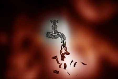 Money Tap in abstract background  photo