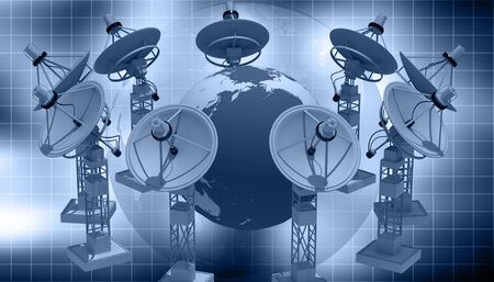 Highly quality of satellite dish in abstract   background photo