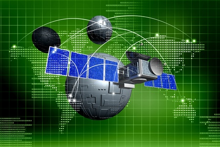 satellite  in abstract   background photo
