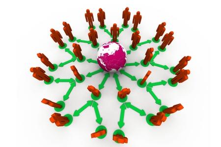 organised group: Global Network  Stock Photo