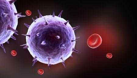 infective: c�lulas de la sangre con el virus