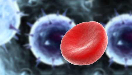 infective: blood cells with virus