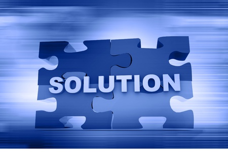 Solution concept in abstract background  photo