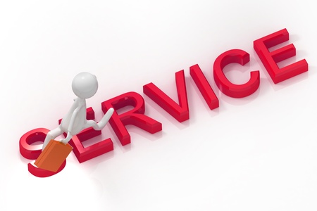 customer care: Service