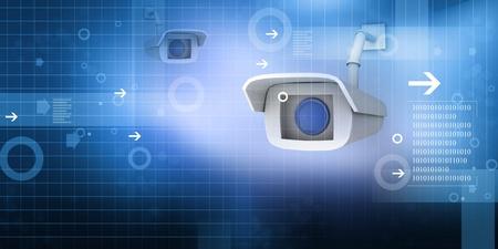 paranoia: telecamere di sicurezza Archivio Fotografico