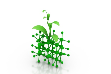 Molecule and sprout photo