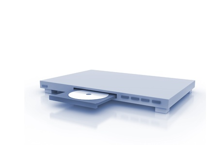 dvd player: DVD Player with Disc  Stock Photo