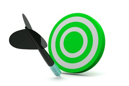 record breaking: Dart Target Icon Stock Photo