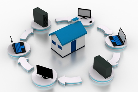 Home Network Stock Photo - 11298074