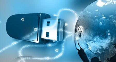 pen drive: digital earth and  Pen drive