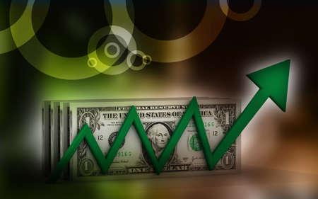 positivist: Dollar with  graph  showing  profits