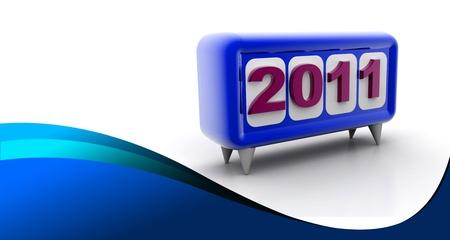 written date: Happy New Year  Stock Photo