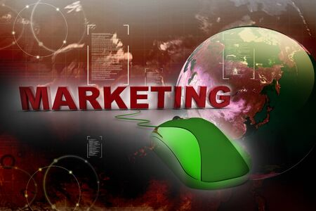 multinational: Online Marketing in abstract background Stock Photo