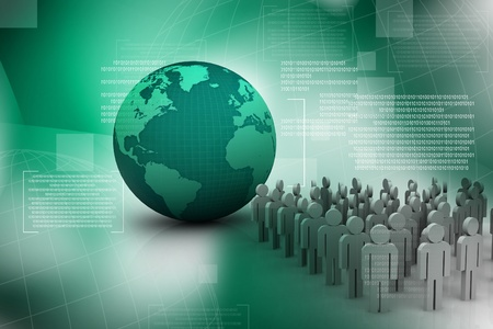 co operation: Population in abstract background Stock Photo