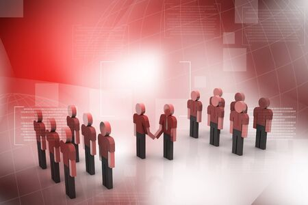 positivist: Teams cooperation in abstract background  Stock Photo