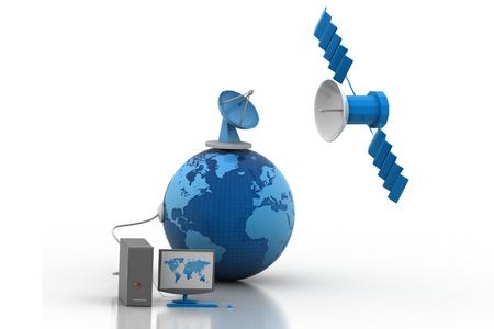 Telecommunications Satellites Фото со стока