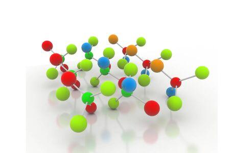 differential focus: Molecules Stock Photo