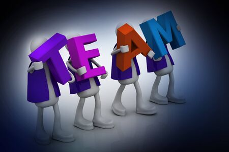 co operation: The team word  Stock Photo