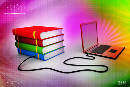 e survey: Internet library Stock Photo