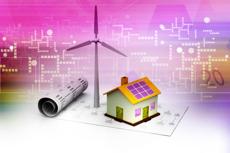 wind powered building: Energy planning