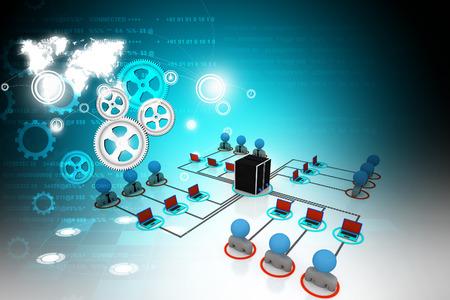 organised group: Network server