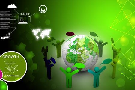 organised group: Global community Stock Photo