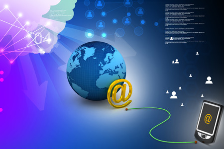 electronic organiser: e-mail on mobile