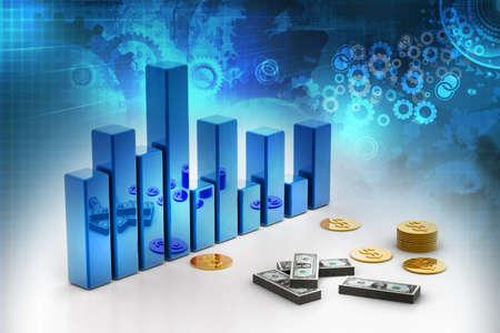 3d business graph photo