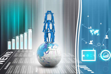 work worker workforce world: 3d multiuse Global communication. Teamwork Business concept