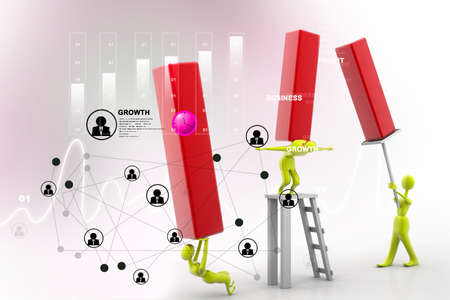 the stimulus: Person carrying Business Graph. Teamwork Business concept