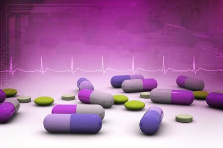 overdose: Capsule background Stock Photo
