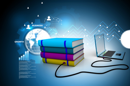 library: Internet library Stock Photo