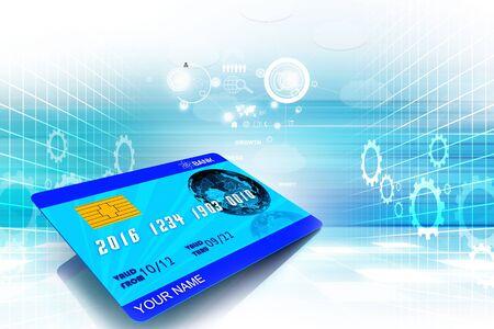 atm card: Digital illustration of ATM CARD in color background