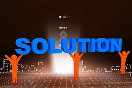 muti: 3d muti use solution Stock Photo