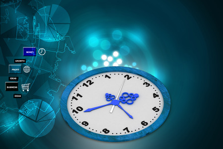 minute hand: Clock in color background
