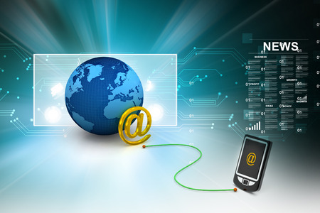 databank: e-mail on mobile