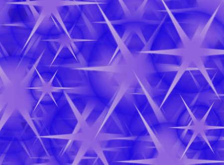 estrellas moradas: Purple estrellas en una noche azul Foto de archivo