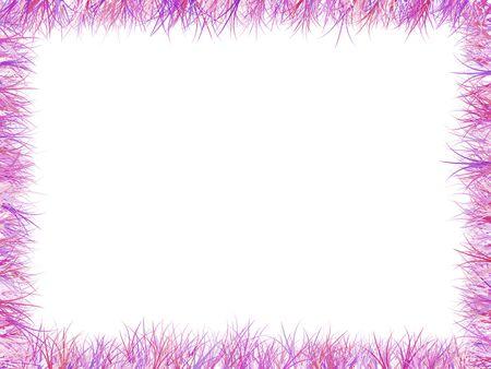 artifical: Frame of artifical grass stems Stock Photo