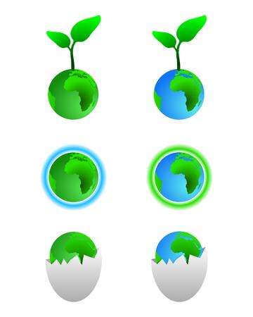 Green earth symbols Stock Vector - 3971731