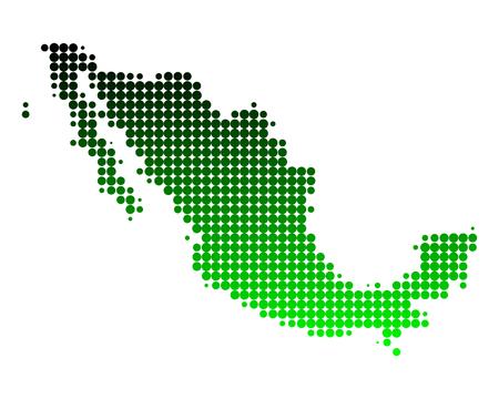mexiko karte: Karte von Mexiko Illustration