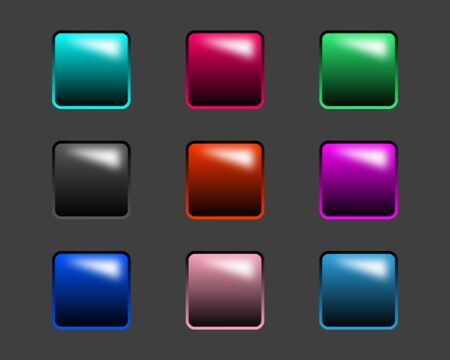 fro: Glossy buttons fro dark backgrounds Stock Photo